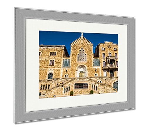 Ashley Framed Prints Architecture Of Barcelona Spain, Wall Art Home Decoration, Color, 30x35 (frame size), Silver Frame, AG6536137 by Ashley Framed Prints