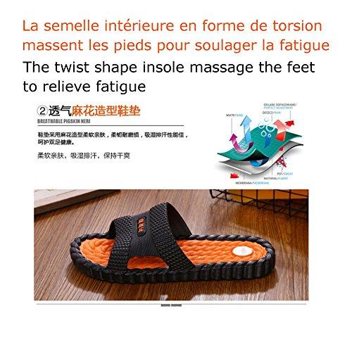 Motive Été Claquettes Life Hommes Bout Vert Massage Ouvert wrw8tfgq