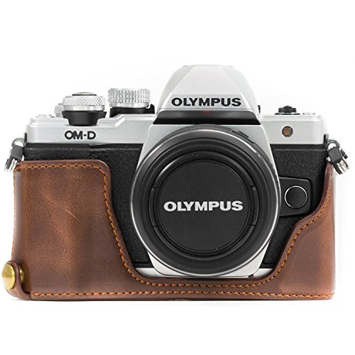 Megagear Olympus OM-D E-M10 Mark Ii Pu Leather Camera Case, Dark Brown (MG970)