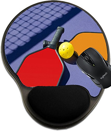 Price comparison product image MSD Mousepad Wrist Protected Mouse Pads/Mat with Wrist Support Design 25179393 Pickleball Two Paddles and a Ball in Net Shadow