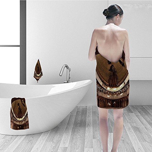 Nalahomeqq Hand towel set Rustic Home Decor Majestic Authentic Decayed Church Curve Dome Ceiling Idle Religion Theme Fabric Bathroom Decor Tan