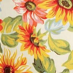 Khaki Floral Tarragon Basket Liner Longaberger Coaster Tote