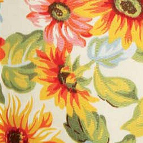 Longaberger TV Time Basket Sunflower Fabric Over Edge Liner NEW