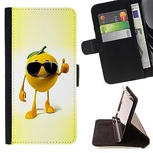 BullDog Case - FOR/Sony Xperia Z1 L39 / - / Funny Chill Orange /- Monedero de cuero de la PU Llevar cubierta de la caja con el ID Credit Card Slots Flip funda de cuer