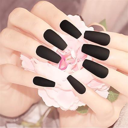 BloomingBoom - Set de 24 uñas postizas de bailarina falsas ...