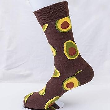 ... Algodón Peinado Patrón Serie Tripulación Ocio Happy Socks Vestido De Fiesta Loca (5 Pares De Calcetines),Café Aguacate: Amazon.es: Deportes y aire libre