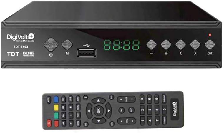 Digivolt TDT HD DVBT-2 SINTONIZADOR Grabador Alta Definición USB Rec TDT-7403: Amazon.es: Electrónica