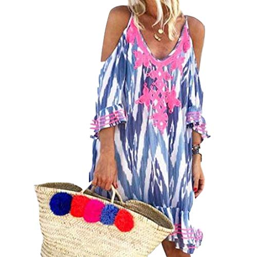 Sumeimiya Women Off Shoulder Dress,Ladies Halter Beach Dresses Tassel Short Cocktail Party Sundress Green