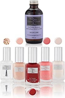 product image for Christmas Nail Polish Lady Signs - Natural Nail Polish Base Coat Set – Lavender Nail Polish Remover - Non-Toxic Nail Art | Vegan and Cruelty-Free Nail Paint (Pack of 6)