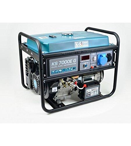 Gas- und Benzin-Stromaggregat Stromerzeuger KS7000EG Dual Fuel K/önner/&S/öhnen K/&S 5.500 Watt