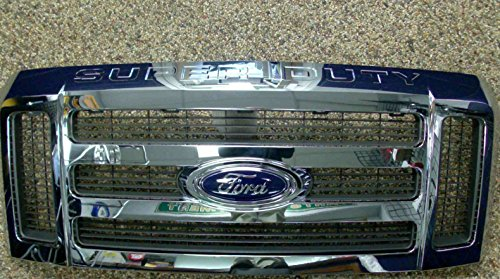 08 09 10 F250 F350 F450 F550 OEM Genuine Ford Super Duty Chrome Grille Grill (Grill Chrome Oem)