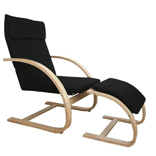 Homestyle4u Schwingsessel Freischwinger Sessel Mit Hocker In Schwarz