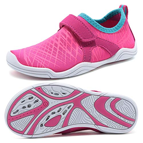 SUNNYOUNG Boys & Girls Water Shoes Lightweight Comfort Sole Easy Walking Athletic Slip on Aqua Sock(Toddler/Little Kid/Big Kid)