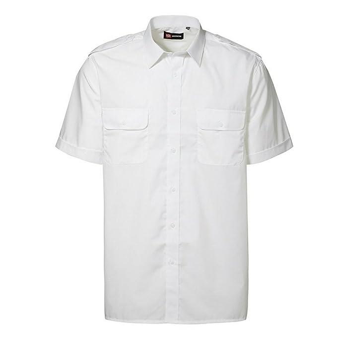 f7013d5a38d ID - Camisa de Uniforme de piloto de Manga Corta Holgada Hombre Caballero:  Amazon.es: Ropa y accesorios