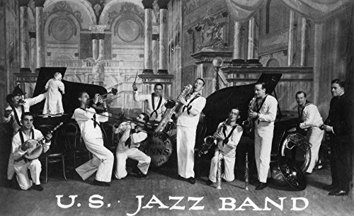 A US Navy Jazz Band - Vintage Photograph (9x12 Art Print, Wall Decor Travel Poster)