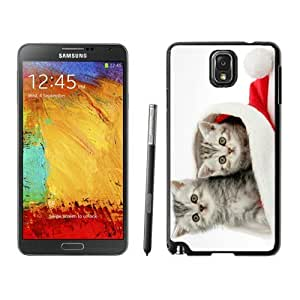 linJUN FENGPersonalized Design Christmas Cat Black Samsung Galaxy Note 3 Case 15