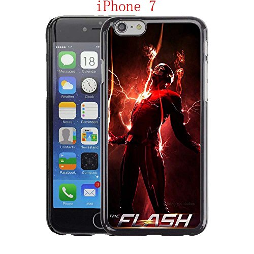 iPhone 7 Case, The TV Series The Flash 20 Drop Protection Never Fade Anti Slip Scratchproof Black Hard Plastic (Female Cartoon Characters Names)
