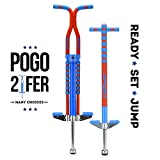 New Bounce Soft, Easy Grip Sport Pogo Stick- 2 Pack Combo Set (One of Two is Pro)