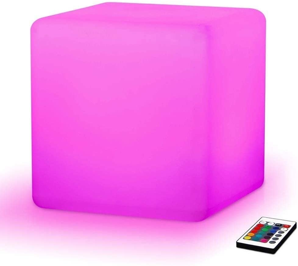 ENAL1 LED Stool Square Cube Luminous Led Furniture Light LED Chair/Table for Home/Bar/Night Club/Party Decorative Lamp Light Up Birthday Party Mood Lamps (Size : 10×10×10cm)