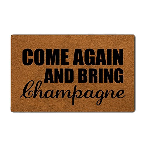 Eureya Come Again And Bring Champagne Door Mats Doormat Inside/Outside Bathroom Living Room Kitchen Rugs Home Decor 40x60cm