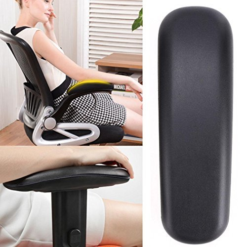 Cosway 2PCS Replacement Office Chair Armrest Arm Pads Ergonomic PU Cushion Rest Cover [US STOCK] by Cosway