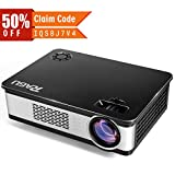"""RAGU Z720 Video projector HD Projectors Portable Movie Projector 1280x768 5.8"""" LCD Home Theater with HDMI Support 1080P VGA USB SD AV TV Laptop for Entertainment Game Party"""