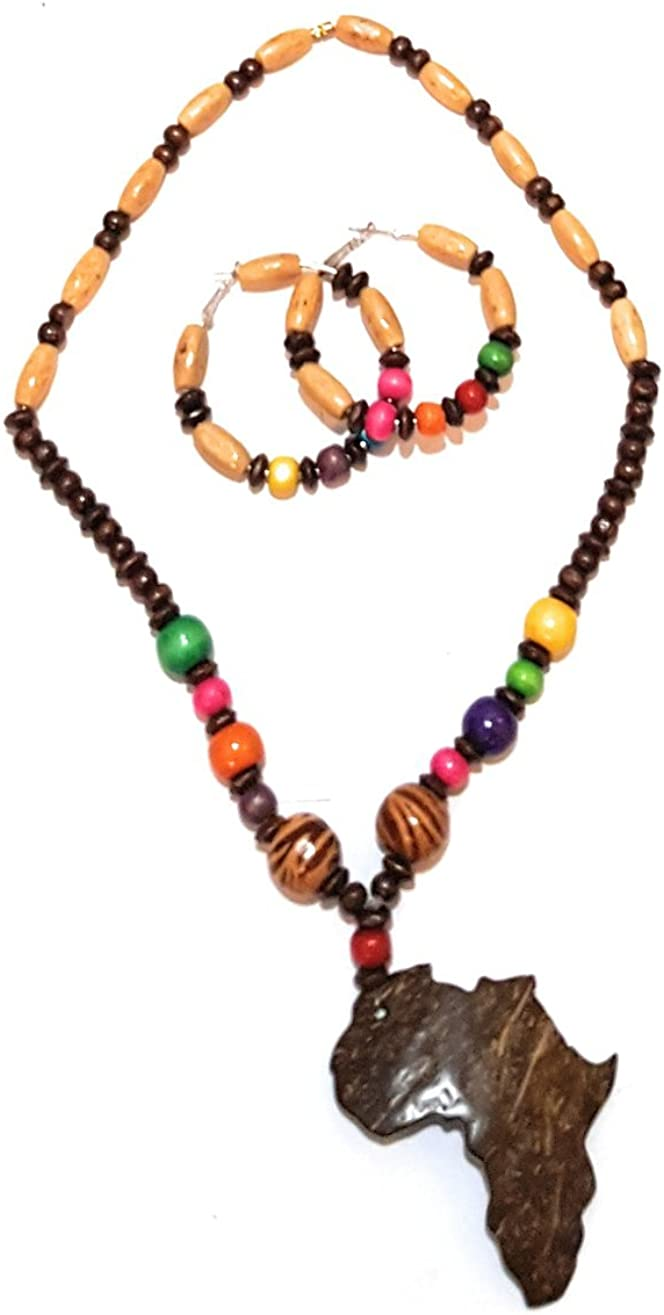Necklace Jewelry Wood Neck piece charm 1pc Wood Beads Necklace Pendants