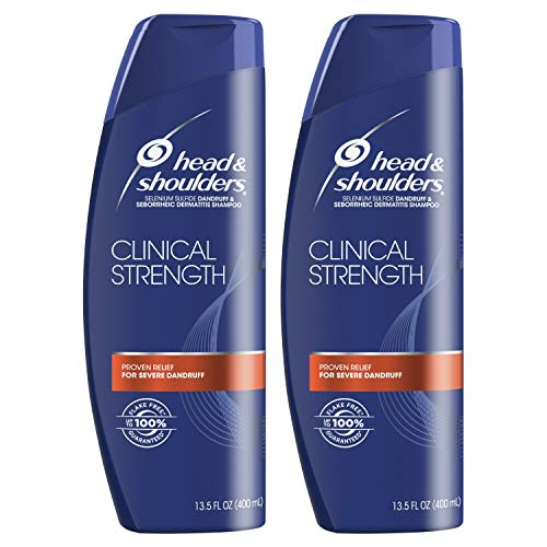 Head and Shoulders Shampoo, Anti Dandruff, Clinical Strength Seborrheic Dermatitis Treatment, 13.5 fl oz, Twin Pack ()