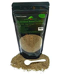 Bonsai Fertilizer - Slow Release - With Free 1g Scoop - Immediately fertilizes and then fertilizes over 2-3 months - Good For House Plants And Cactus (12 Ounce 12-4-5)