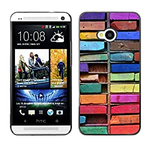 Exotic-Star ( Colorful Drawing Art Messy ) Fundas Cover Cubre Hard Case Cover para HTC One M7