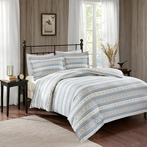 Nordic Snowflake Flannel Comforter Mini Set Blue (Flannel Mini Comforter Set)