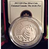 2013 $20 Fine Silver Coin 13 Arctic Fox Mintage 8500 Canada Royal Canadian Mint