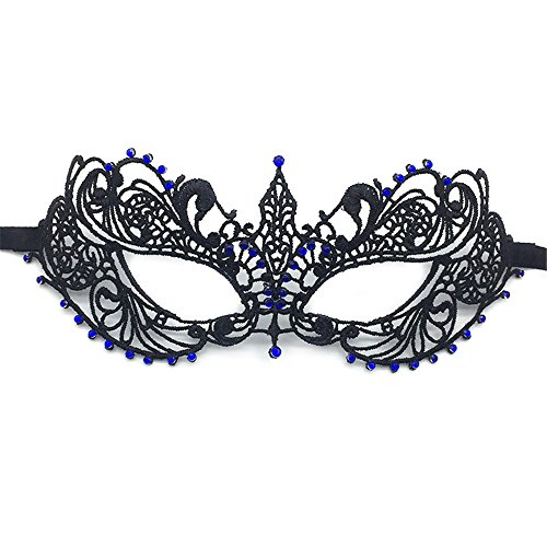 Mardi Gras Party Masquerade Mask,Film and Television mask Gold Thread Silver line with Diamonds Half face lace mask Makeup Dance Party Fun mask Eye mask 3 Prom Masks