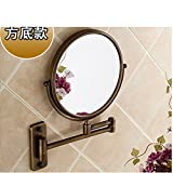 YAOHAOHAO Cosmetic mirror/bathroom walls Bathroom Mirrors Mirrors fold zoom telescope/Duplex dressing-H
