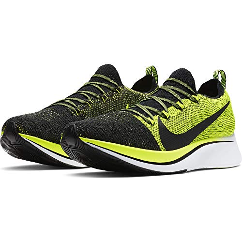 Nike Zoom Fly Flyknit Men's Running Shoe Black/Black-Volt-White Size 8 by Nike (Image #3)