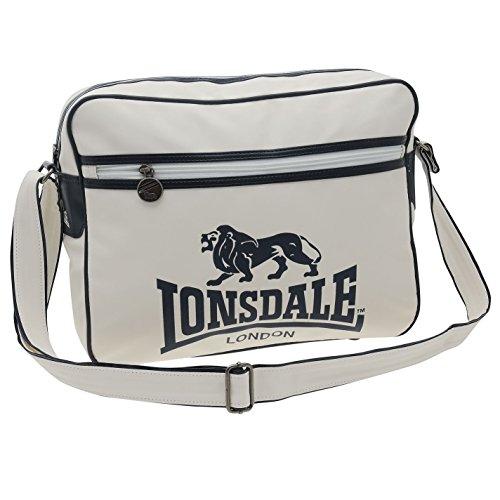 Lonsdale Flight borsa Messenger Bianco/Blu Borsone Borsa, bianco