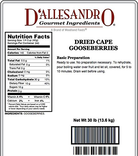 Gooseberries, Dried - 30 Lb Bag / Box Each by Woodland Ingredients (Image #2)