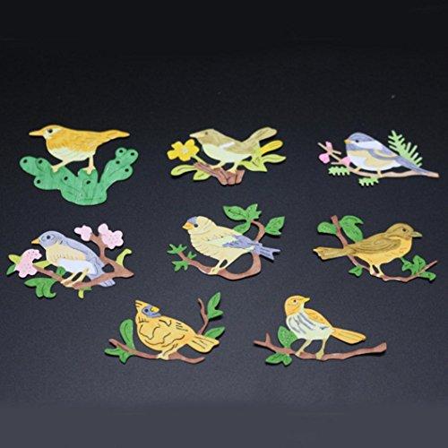 - Transer Metal Cutting Dies Birds Stencil DIY Scrapbooking Embossing Album Paper Card Craft (B)