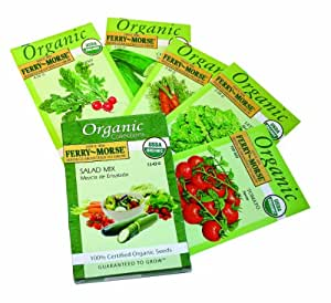 Ferry-Morse 3243 Organic Seed Collection, Salad (13.43 Gram Packet)
