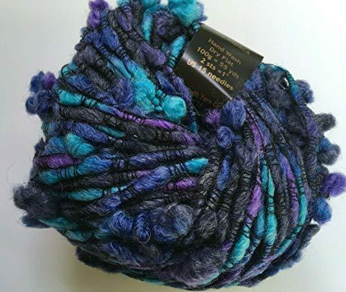 (Plymouth Yarn Montagna #769 Turquoise Blues Purples Nylon Wool Acrylic Alpaca 100 Gram, 55 Yards)