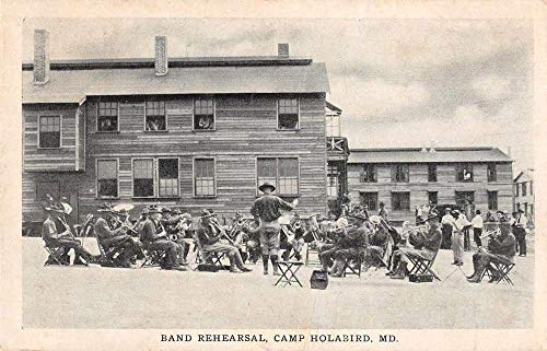 Camp Holabird Maryland Band Rehearsal Military Vintage Postcard JJ649874
