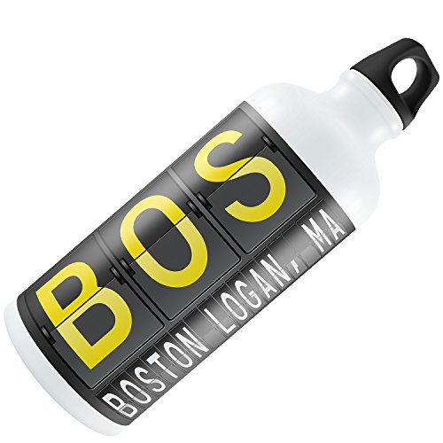 Water Bottle BOS Airport Code for Boston - Logan, MA 20oz / - Ma Boston Logan