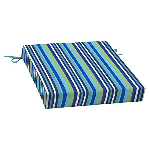 Mainstays Turquoise Stripe Outdoor Patio Dining Seat Cushion by Mainstay