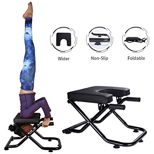 Lowest Price! Yoga Headstand Bench Stand Yoga Chair for Family, Gym, Fitness Ideal Chair for Practic...