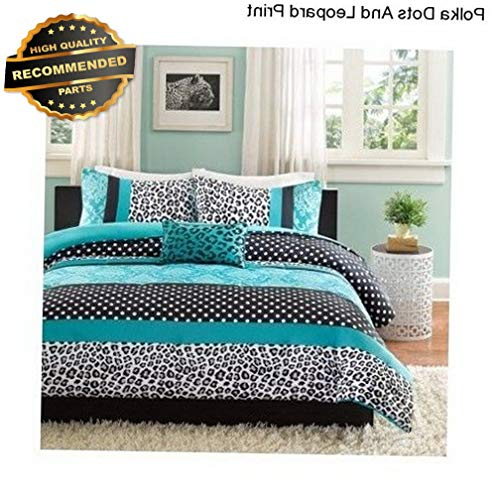 Gatton Premium New Girls Full/Queen Comforter Set Bedding Bedspread Reversible Leopard Shams | Style Collection Comforter-311012830