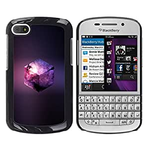 Caucho caso de Shell duro de la cubierta de accesorios de protección BY RAYDREAMMM - BlackBerry Q10 - Galaxy Cubo