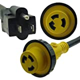 NU-SET RV dogbone adapter 15 amp male to 30 amp female locking connector