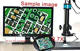 Max 300x Zoom C-mount Glass Lens Adapter F/ Industry Digital Microscope Camera Objective