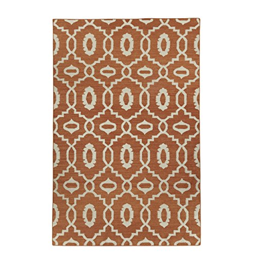 Capel Damask Rug (Capel Rugs Genevieve Gorder Anchor Rectangle Flat Woven Area Rug, 8 x 11', Sunny)