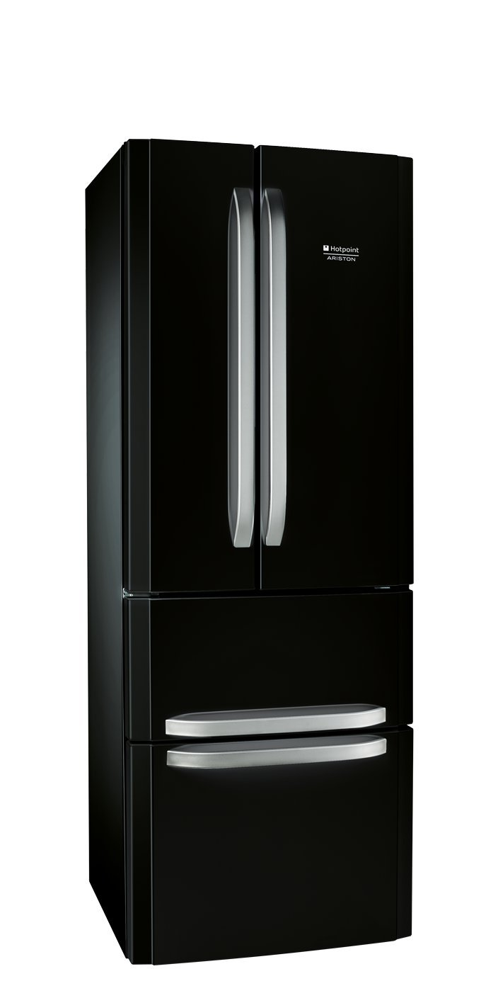 Hotpoint-Ariston E4D AA B C nevera puerta lado a lado - Frigorí fico side-by-side (Independiente, Negro, Puerta francesa, 402 L, 470 L, SN, ST, T, No) 40030483